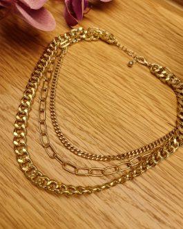 Collar triple cadena